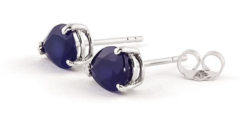 Sapphire Stud Earrings 3 ctw in 9ct White Gold