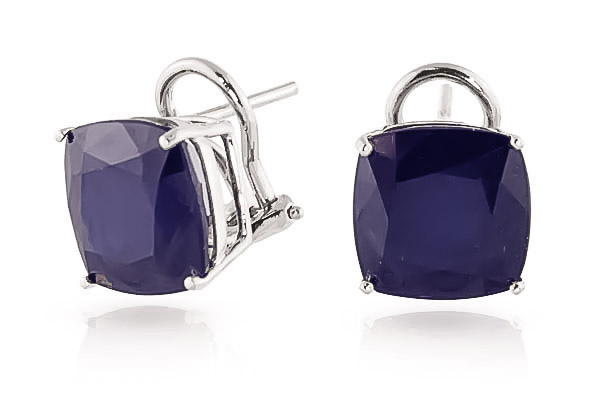 Sapphire Stud Earrings 9.66 ctw in 9ct White Gold