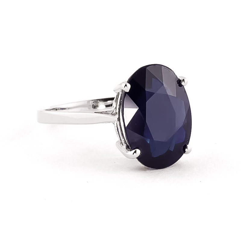 Sapphire Valiant Ring 8.5 ct in 18ct White Gold