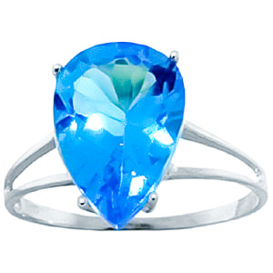 Sterling Silver 5.0ct Blue Topaz Ring