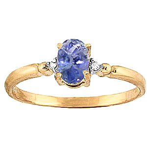 Tanzanite & Diamond Allure Ring in 9ct Gold