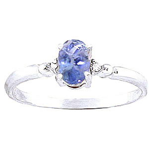Tanzanite & Diamond Allure Ring in Sterling Silver