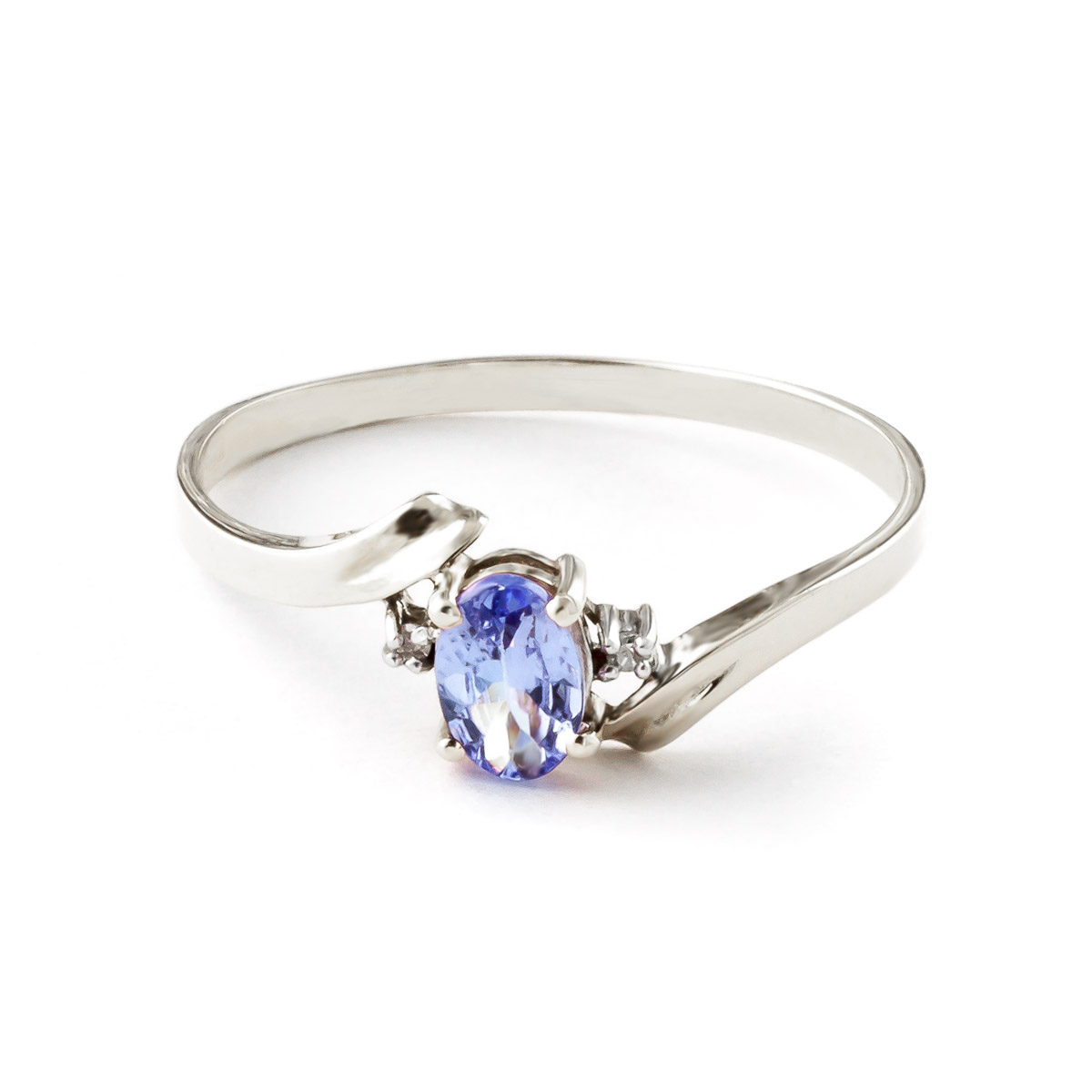 Tanzanite & Diamond Embrace Ring in Sterling Silver