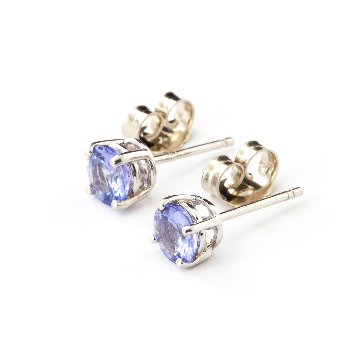 Tanzanite Stud Earrings 0.95 ctw in 9ct White Gold