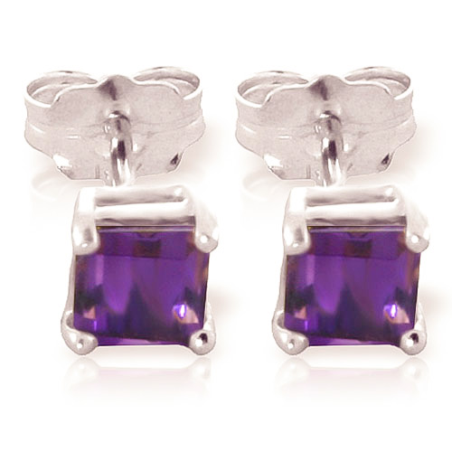 Stockists of Amethyst Alexandra Stud Earrings 0.65ctw in 9ct White Gold