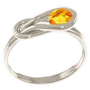 Citrine San Francisco Ring 0.65ct in 9ct White Gold
