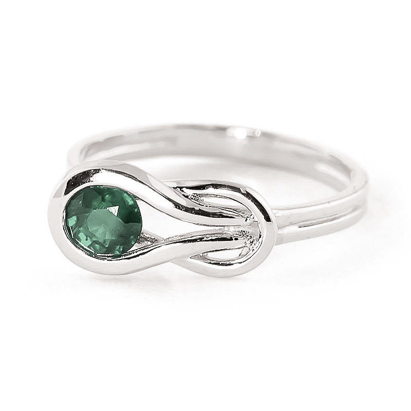 Emerald San Francisco Ring 0.65ct in 9ct White Gold