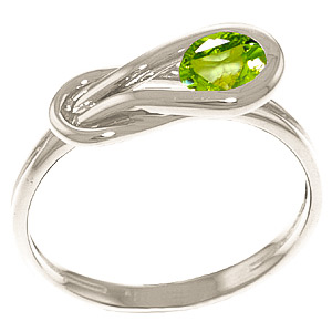 Peridot San Francisco Ring 0.65ct in 9ct White Gold