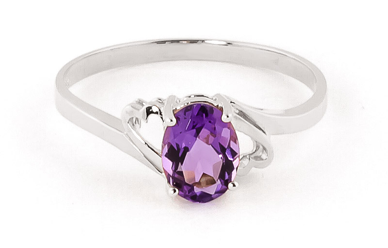 Amethyst Classic Desire Ring 0.75ct in 9ct White Gold