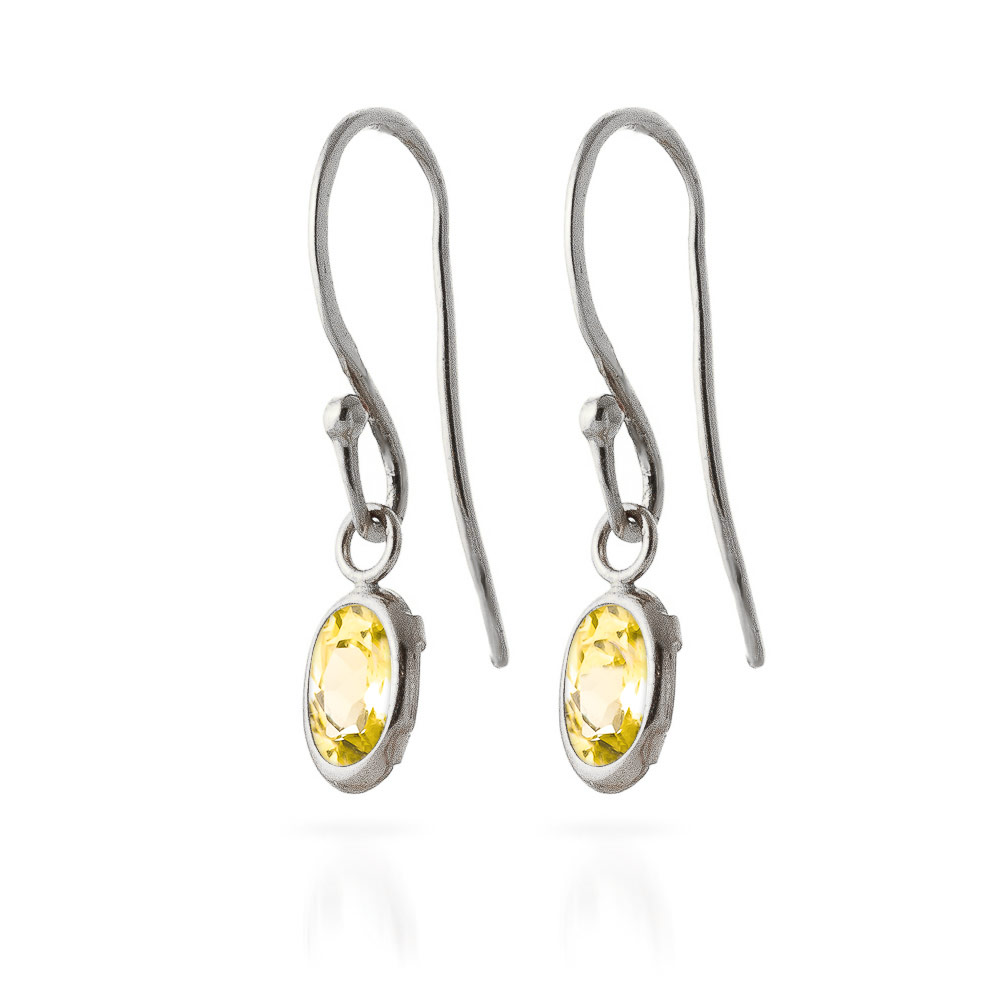 Citrine Allure Drop Earrings 1.0ctw in 9ct White Gold