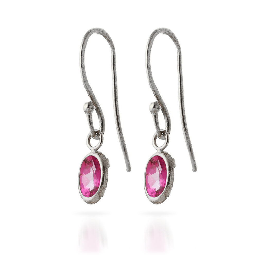 Pink Topaz Allure Drop Earrings 1.0ctw in 9ct White Gold