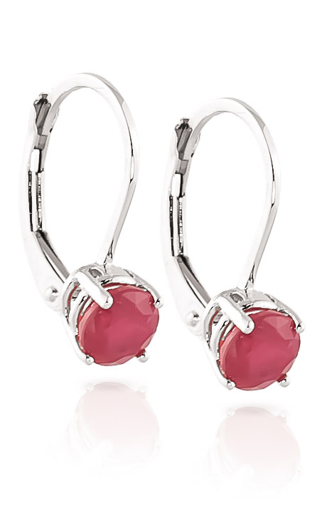 Ruby Boston Drop Earrings 1.2ctw in 9ct White Gold