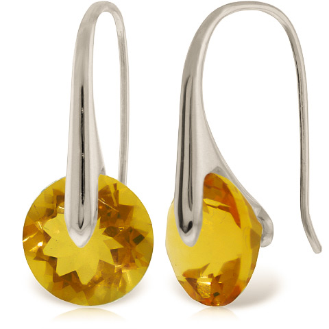Citrine Drop Earrings 11.5ctw in 9ct White Gold