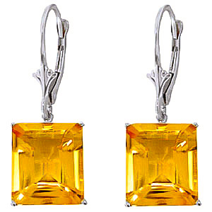 QP 9ct White Gold 13.0ct Citrine Auroral Earrings