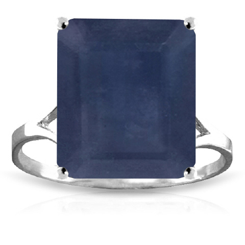 Sapphire Ring 7.0ct in 9ct White Gold