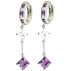 Cubic Zirconia Earrings 7.1ctw in 9ct White Gold