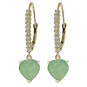 Diamond and Emerald Laced Drop Earrings in 9ct White Gold