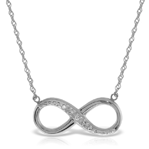 Diamond Infinite Pendant Necklace in 9ct White Gold