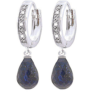 Diamond and Sapphire Earrings in 9ct White Gold