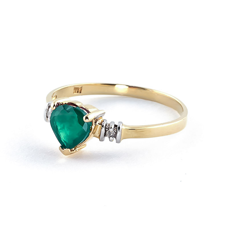 14k gold emerald ring 4393y qp jewellers