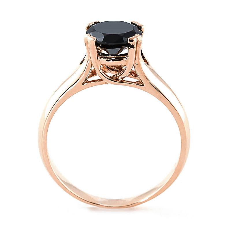 Inspirational Black Gold Rings with Diamonds