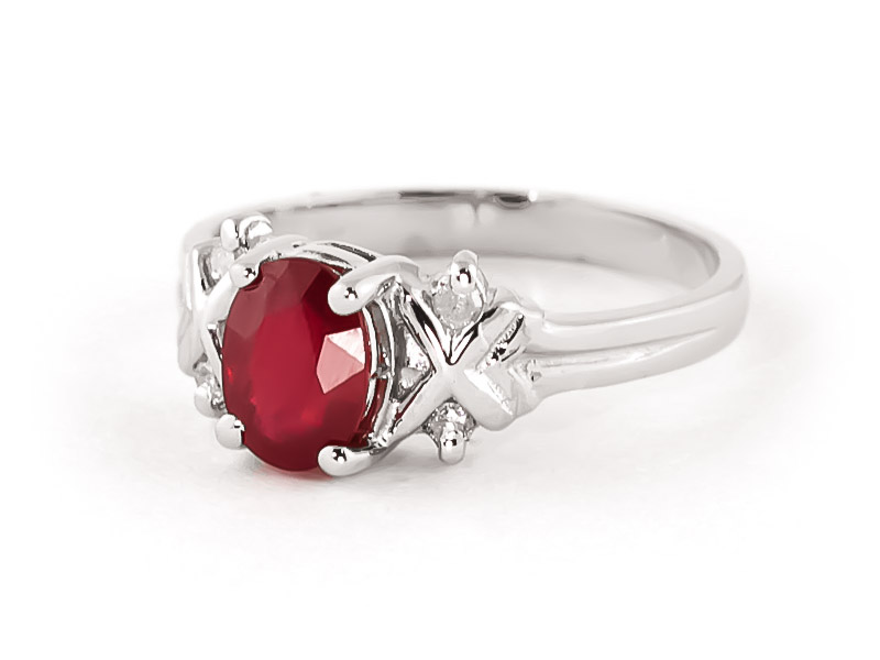 14k white gold 1 35ct ruby ring 4598w qp jewellers