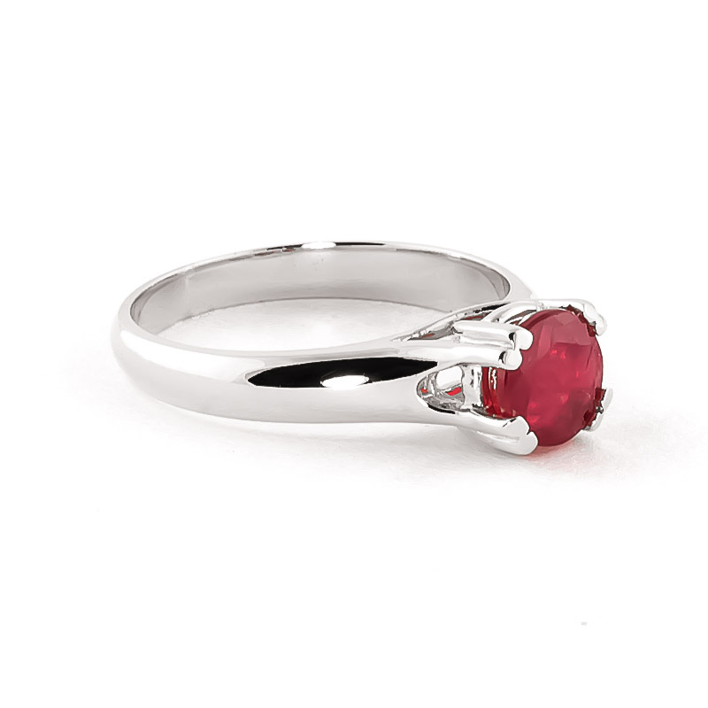 14k white gold 1 35ct ruby solitaire ring 3155w qp