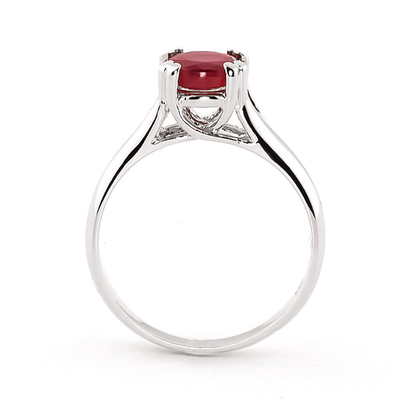 14k white gold ruby solitaire ring 3155w qp. Black Bedroom Furniture Sets. Home Design Ideas