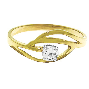 Round Brilliant Cut Diamond Ring in 14K Gold