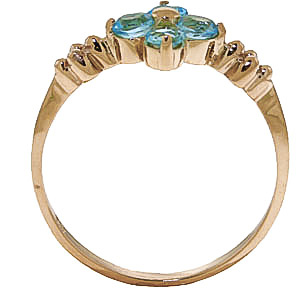 Round Brilliant Cut Blue Topaz Ring 0.58ctw in 9ct Gold
