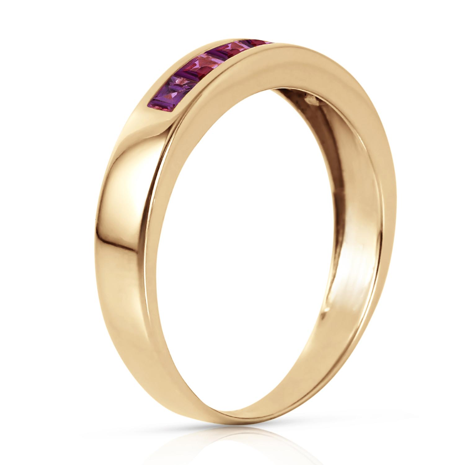 Princess Cut Amethyst Ring 0.6ctw in 9ct Gold
