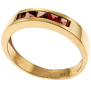 Princess Cut Garnet Ring 0.6ctw in 9ct Gold