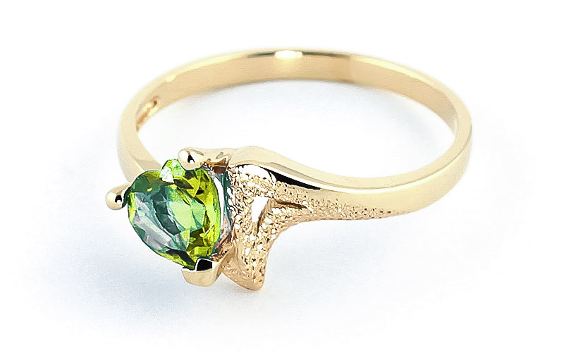 Peridot Devotion Heart Ring 0.6ct in 9ct Gold