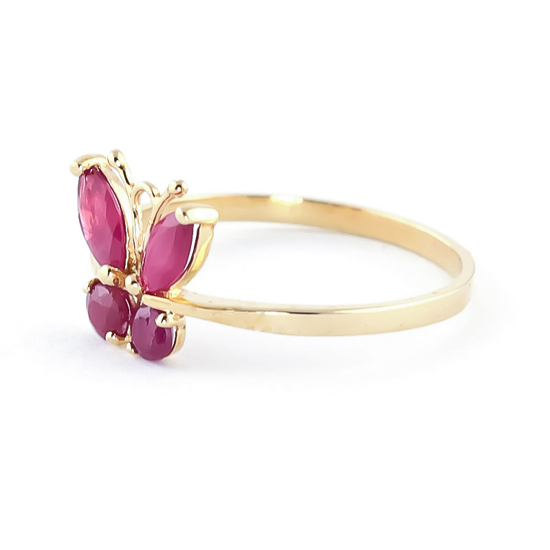 Ruby Butterfly Ring 0.6ctw in 9ct Gold