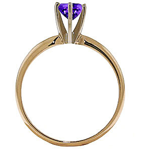 Amethyst Crown Solitaire Ring 0.65ct in 9ct Gold