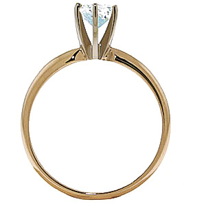 Aquamarine Crown Solitaire Ring 0.65ct in 9ct Gold
