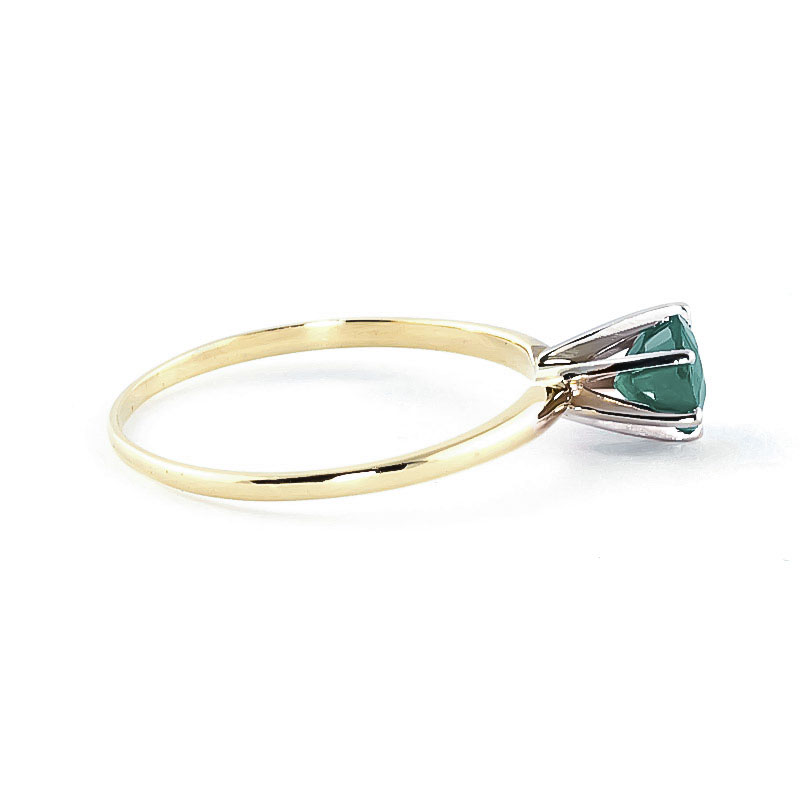 Emerald Crown Solitaire Ring 0.65ct in 14K Gold