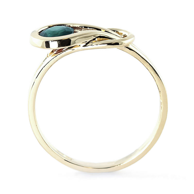 Emerald San Francisco Ring 0.65ct in 9ct Gold