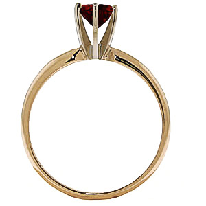 Garnet Crown Solitaire Ring 0.65ct in 9ct Gold