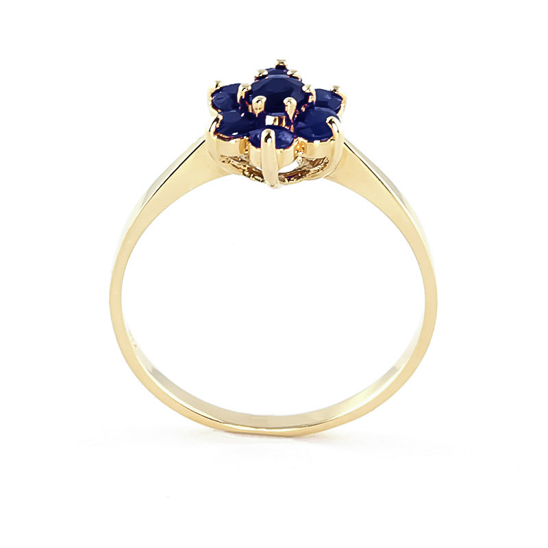 Sapphire Wildflower Cluster Ring 0.66ctw in 14K Gold