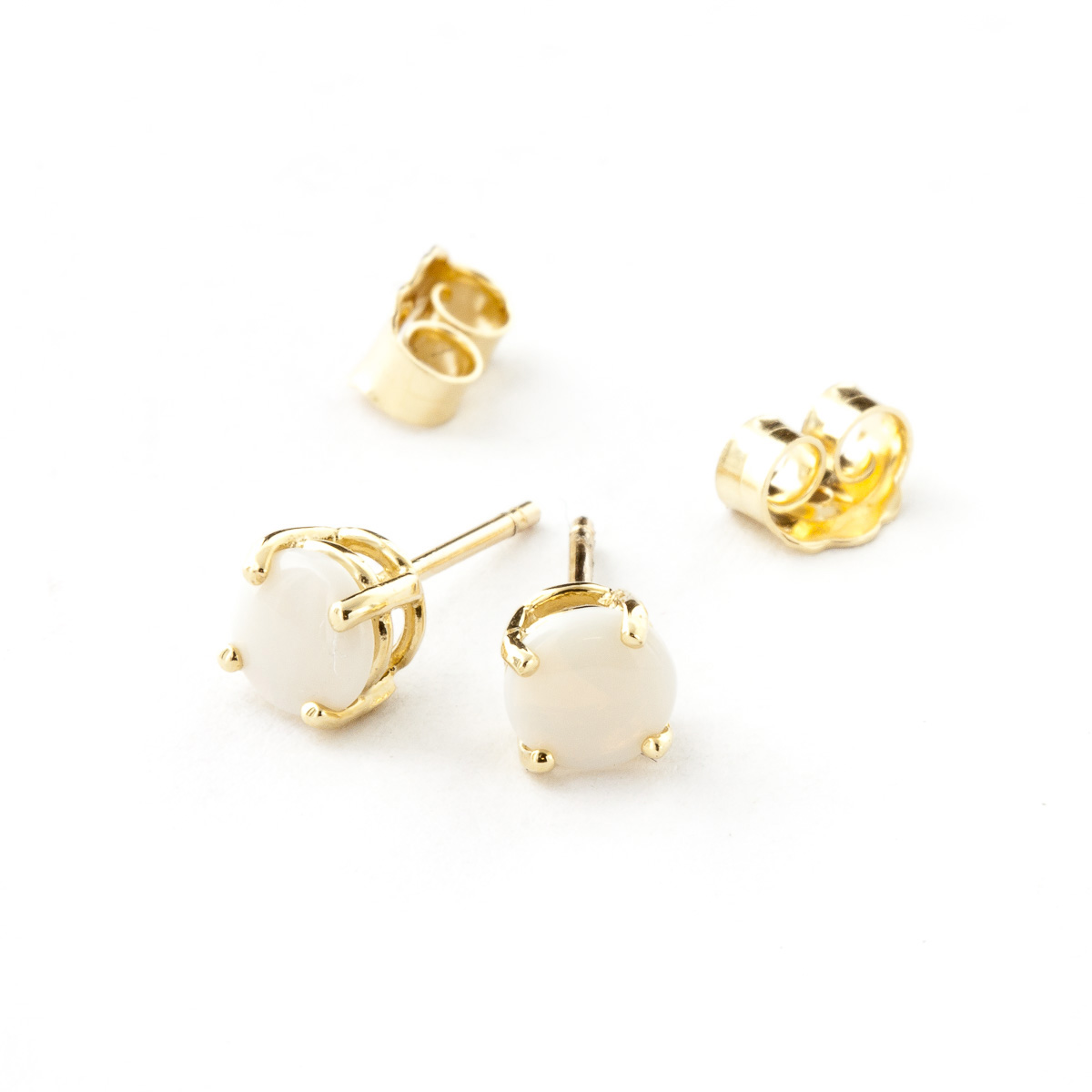 Opal Stud Earrings 0.7ctw in 9ct Gold