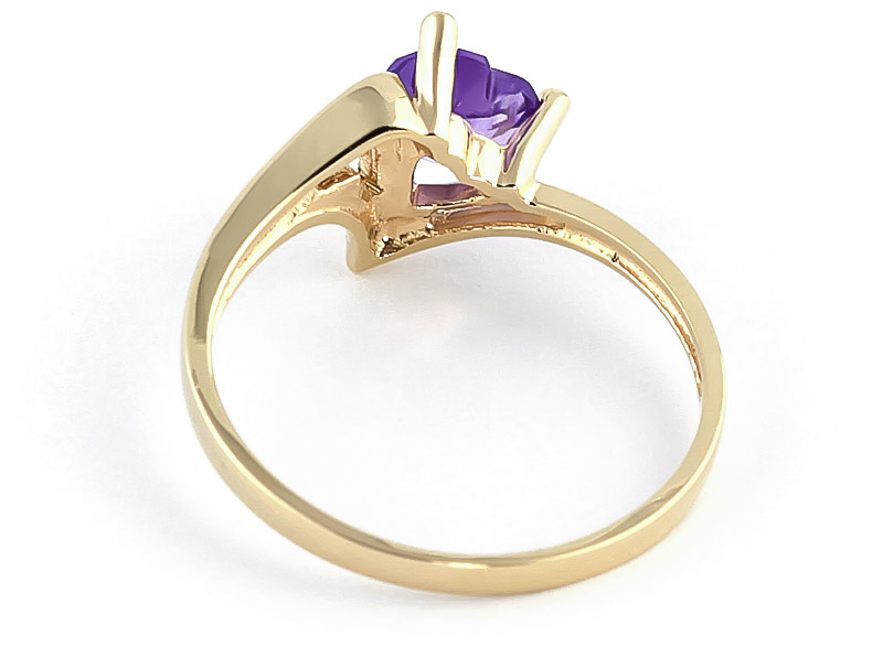 Amethyst Devotion Heart Ring 0.75ct in 9ct Gold