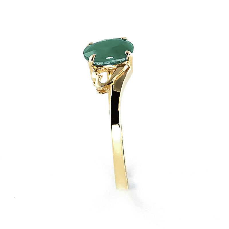 Emerald Classic Desire Ring 0.75ct in 9ct Gold