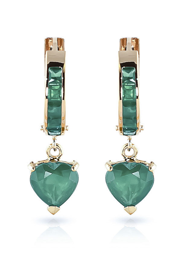 Emerald Huggie Earrings 0.85ctw in 14K Gold