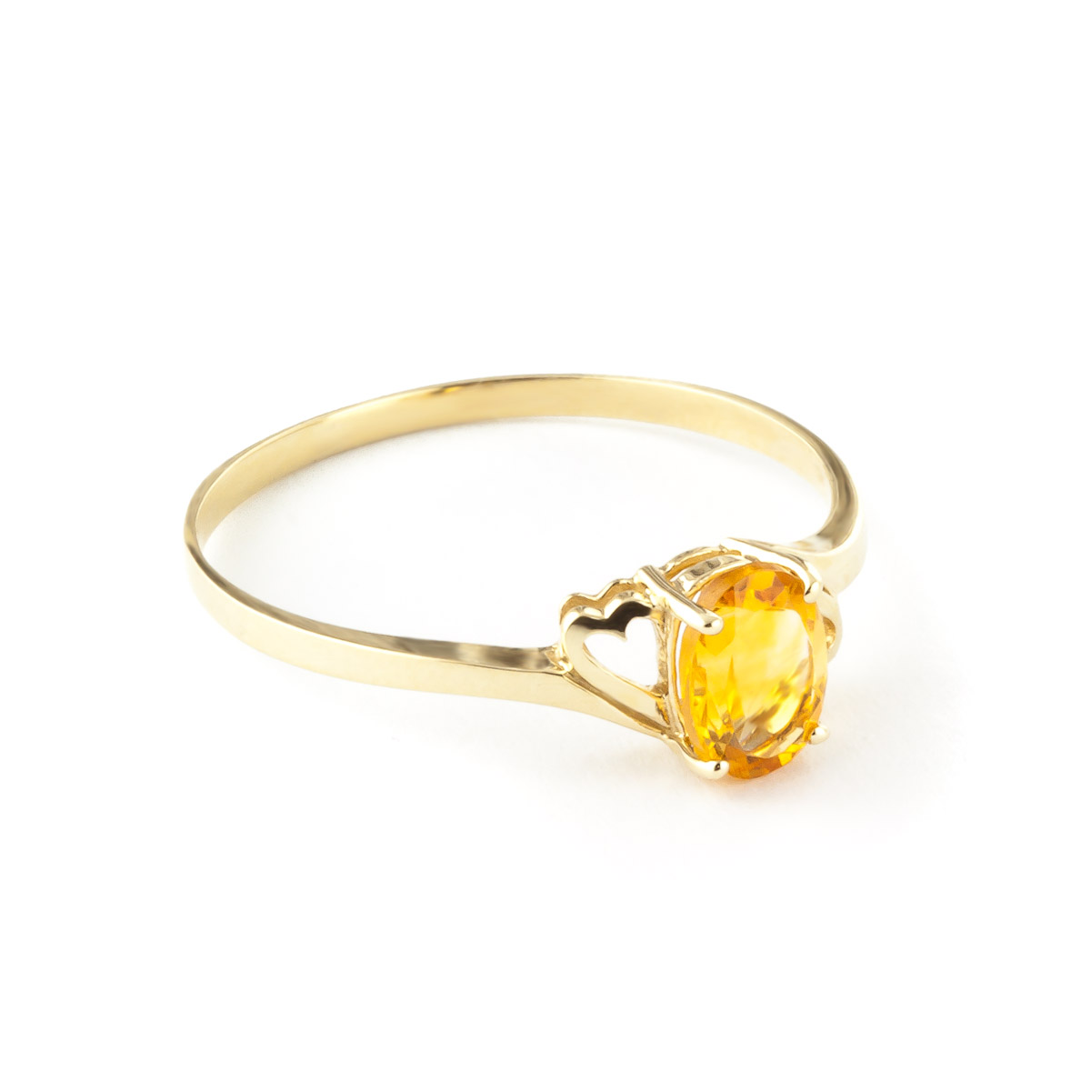 Citrine Classic Desire Ring 0.9ct in 9ct Gold