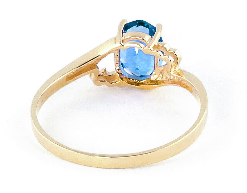 Blue Topaz Classic Desire Ring 0.95ct in 14K Gold