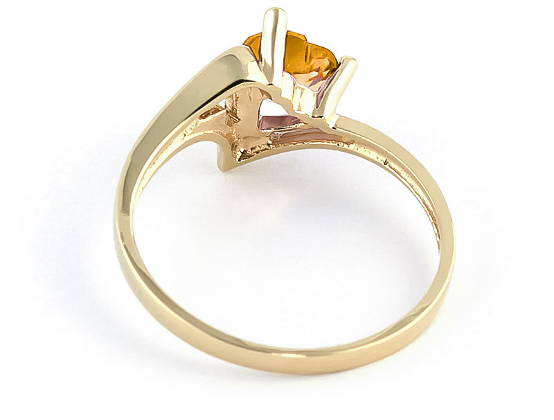 Citrine Devotion Heart Ring 0.95ct in 9ct Gold