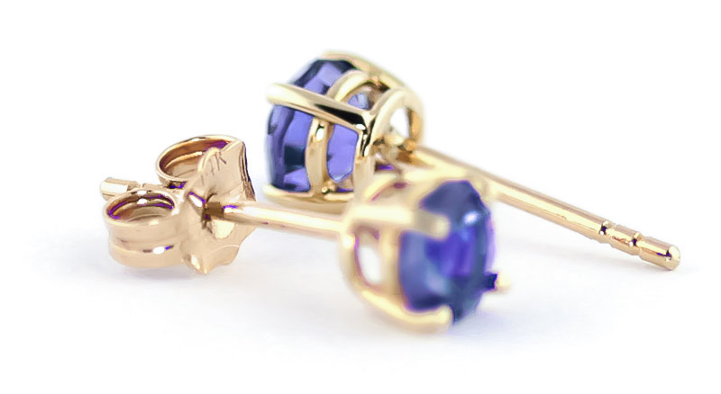 Tanzanite Stud Earrings 0.95ctw in 9ct Gold