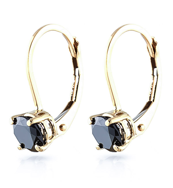 Black Diamond Boston Drop Earrings in 9ct Gold