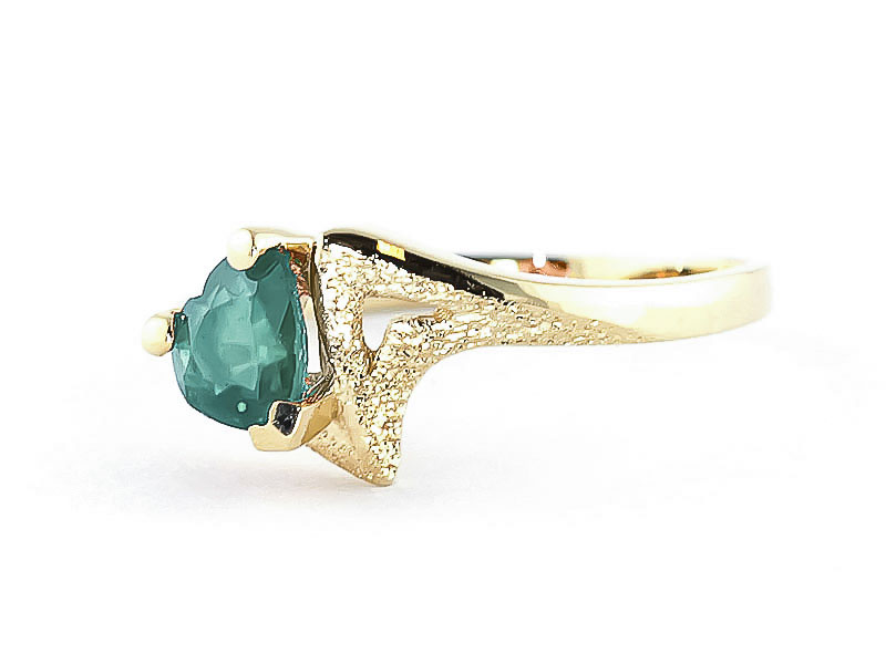Emerald Devotion Heart Ring 1.0ct in 9ct Gold